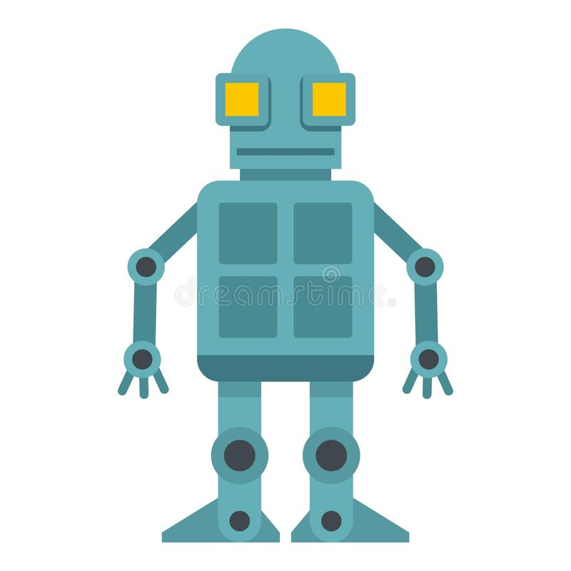 Android robot icon isolated stock illustration
