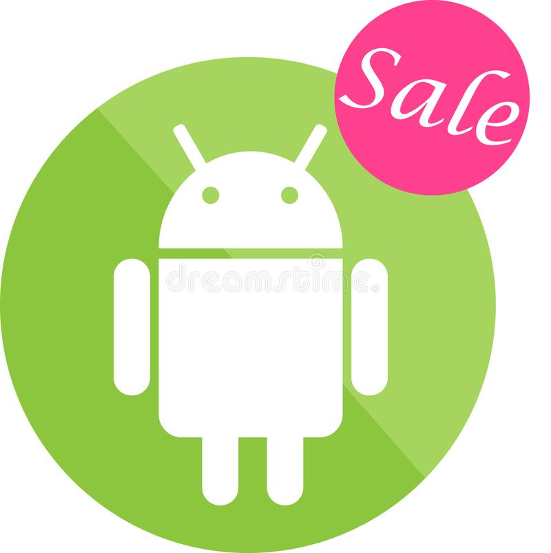 Android sale icon. For business purposes royalty free illustration