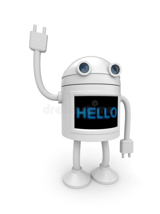 Free Android Say Hello! Stock Photo - 14988320