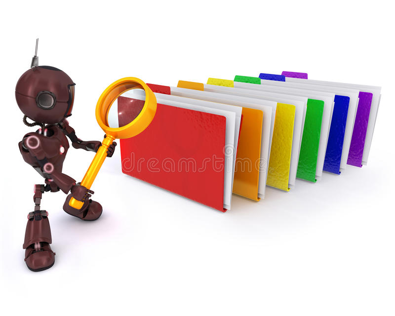 Android searching files royalty free illustration