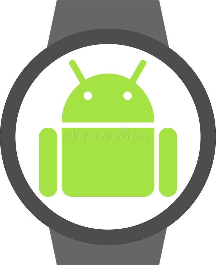 Android-slijtagepictogram royalty-vrije illustratie
