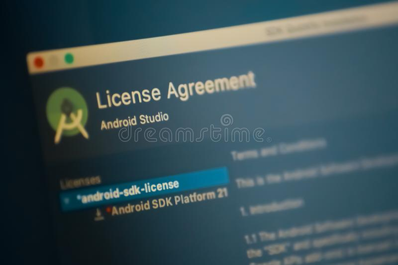 Android-studio royalty-vrije stock afbeelding