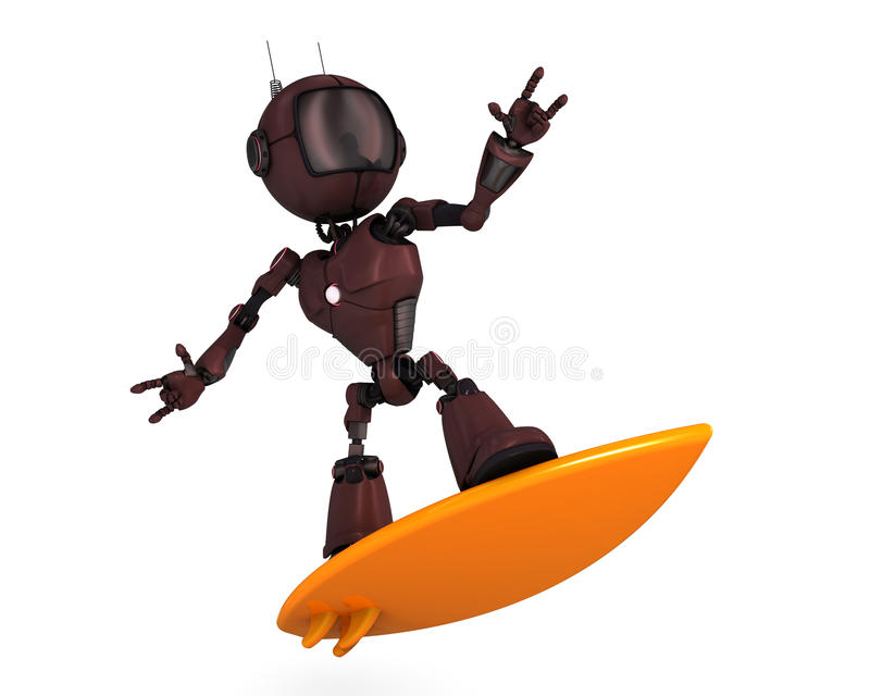 Android Surfer vector illustration
