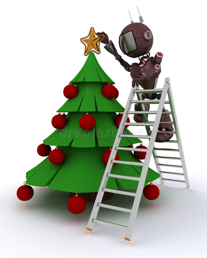 Android trimming the tree vector illustration