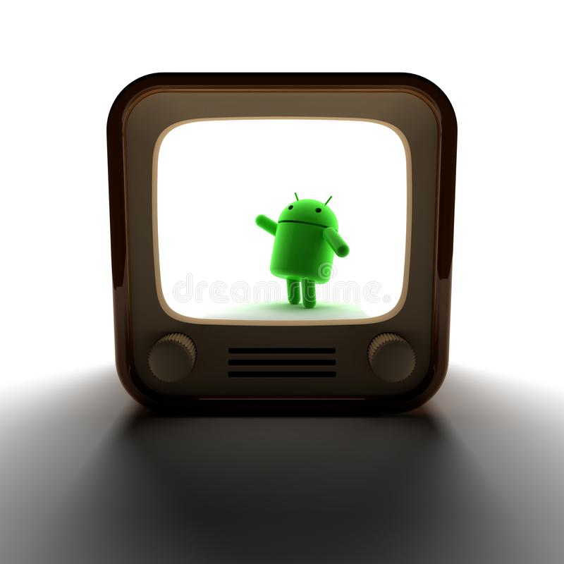Download Android TV editorial photo. Image of green, intelligence - 16441151