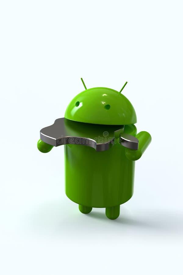 Android versus Apple-de concurrentiesymbool vector illustratie