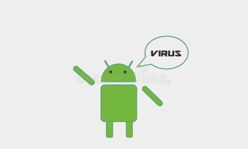 Android-Virus lizenzfreie stockfotografie