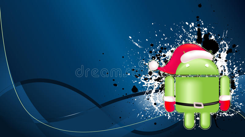 Android Xmas Background Editorial Stock Image