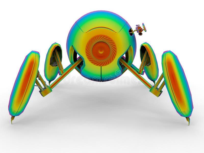 Androide colorido arco-íris ilustração do vetor