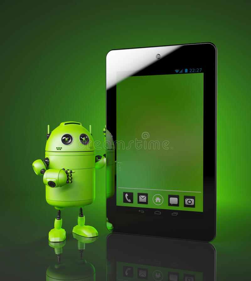 Androide con PC de la tableta