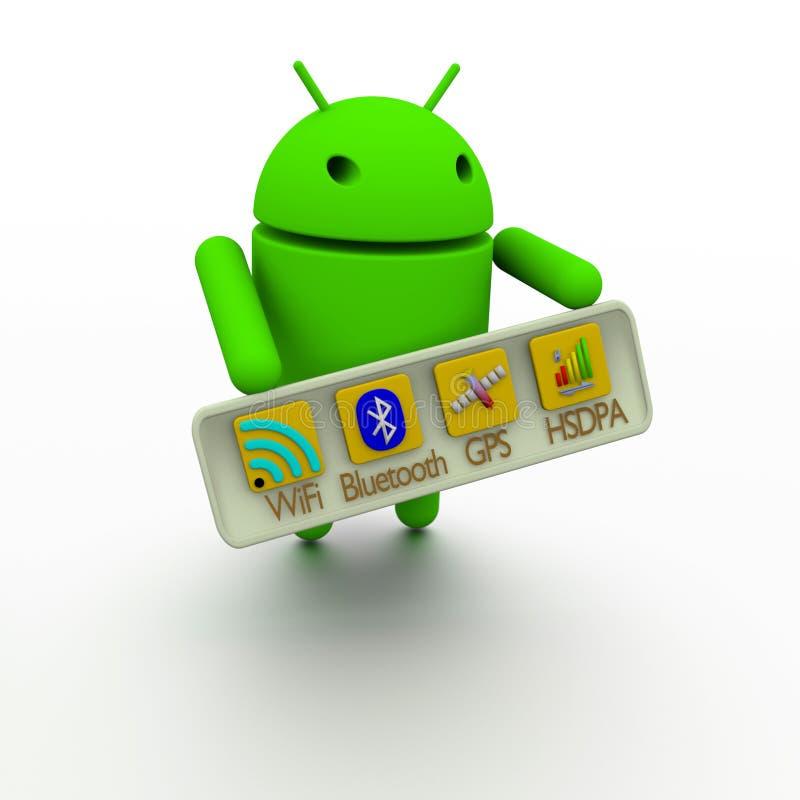 Androide drahtlose Anschlussfähigkeit lizenzfreie stockfotos