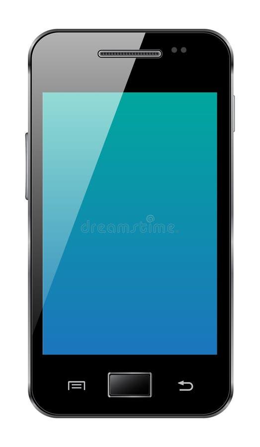 Androidmobiltelefon stock illustrationer