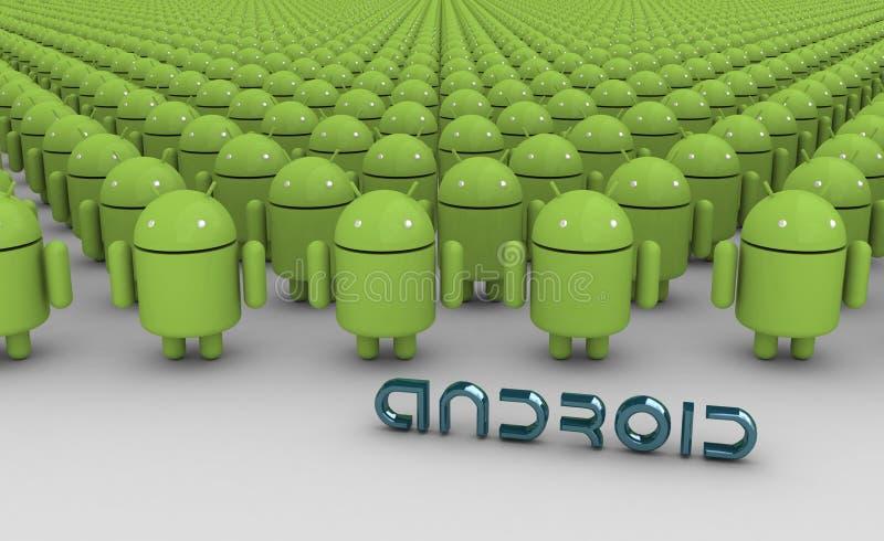 androids инфинитные иллюстрация вектора