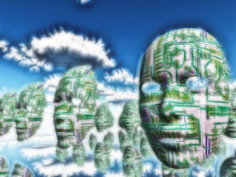 androids do dream ηλεκτρικά πρόβατα διανυσματική απεικόνιση