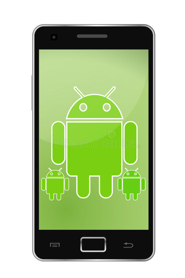 androidtelefon vektor illustrationer