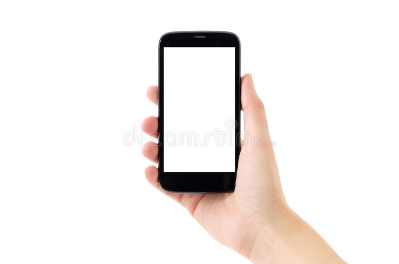 Androidu Mądrze telefon na Białym tle fotografia royalty free