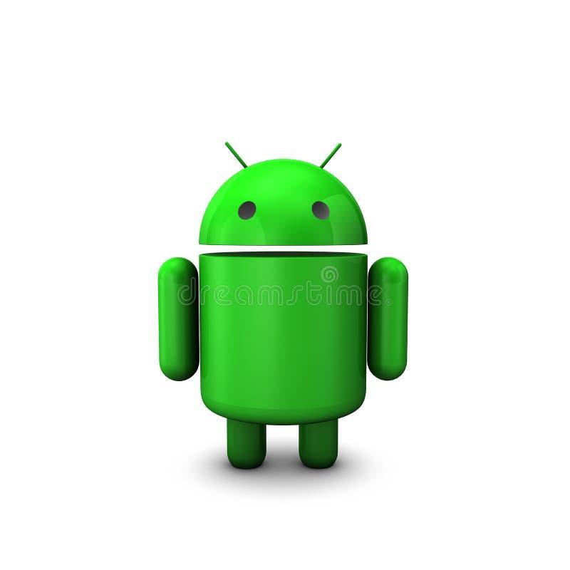androidu robot royalty ilustracja