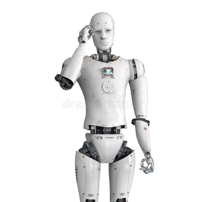 Androidu robota główkowanie ilustracji