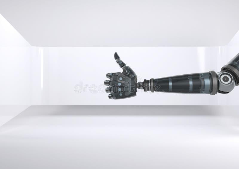 Androidu robota ręki aprobaty z jaskrawym tłem ilustracji