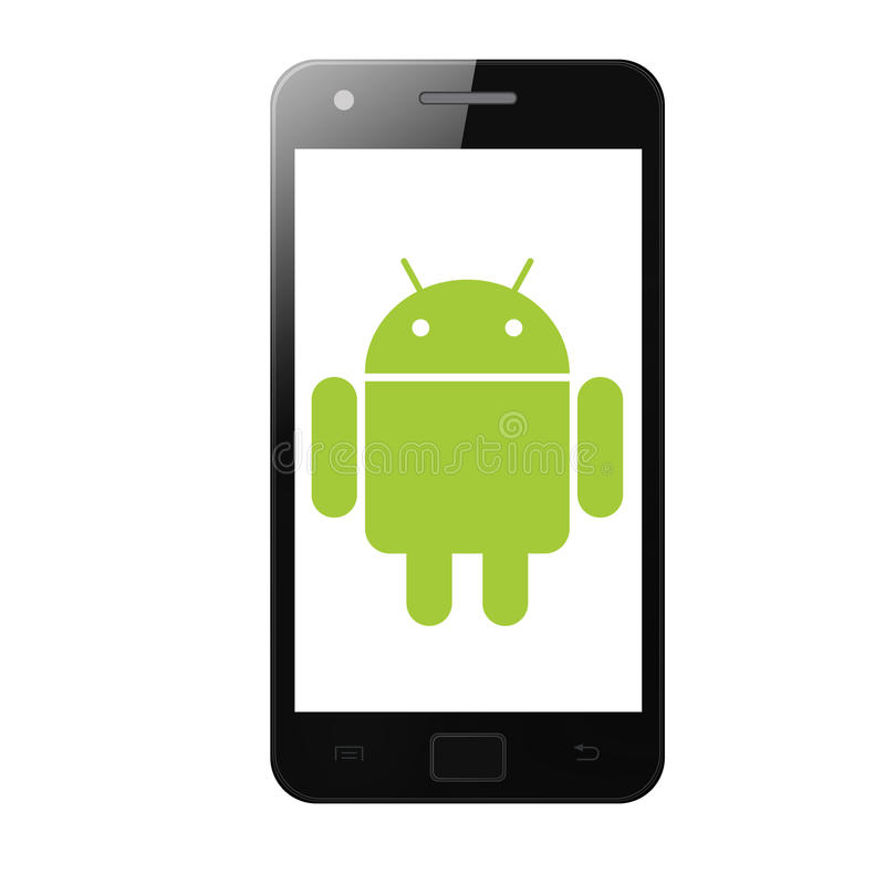 androidu telefon ilustracji