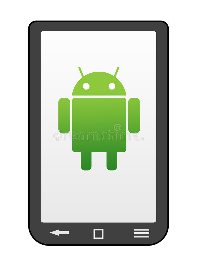 Androidu telefon royalty ilustracja