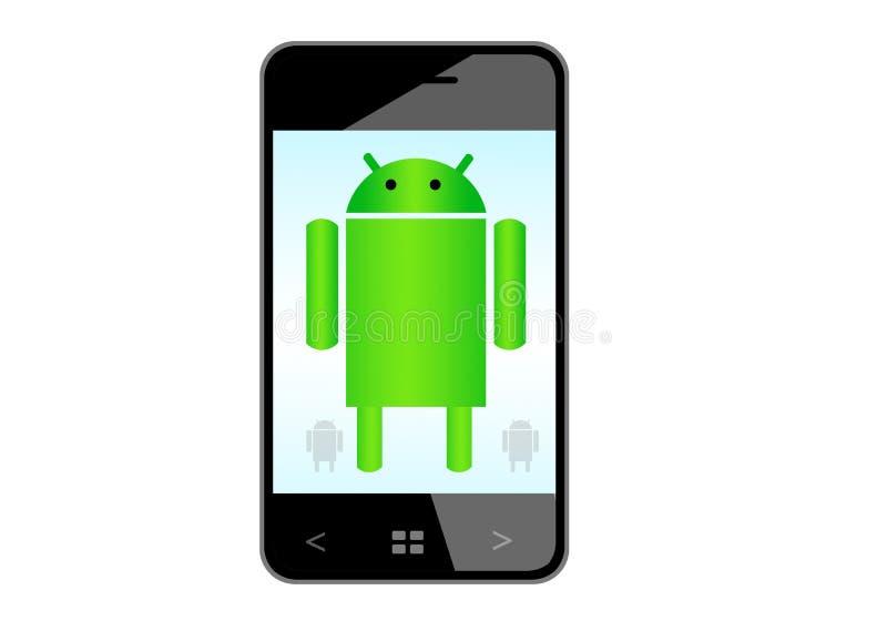 Androidu telefon komórkowy royalty ilustracja