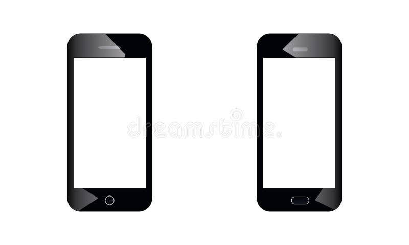 Androidu telefon komórkowy - androidu dotyka ekranu telefonu komórkowego Opóźniony model ilustracja wektor