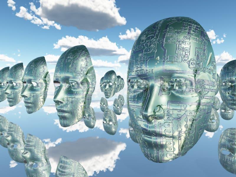androidy marzą elektrycznych cakle royalty ilustracja