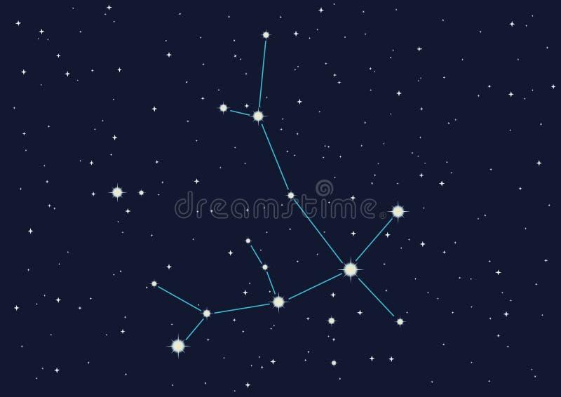 Andromeda da constelação ilustração royalty free
