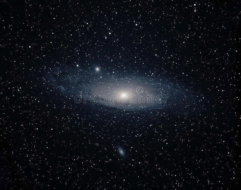 Andromeda Galaxy. Widefield Color Picture of Andromeda Galaxy royalty free stock photos