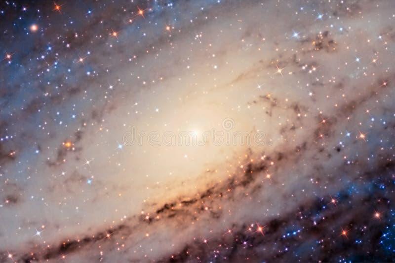 Andromeda Galaxy Center imagen de archivo libre de regalías