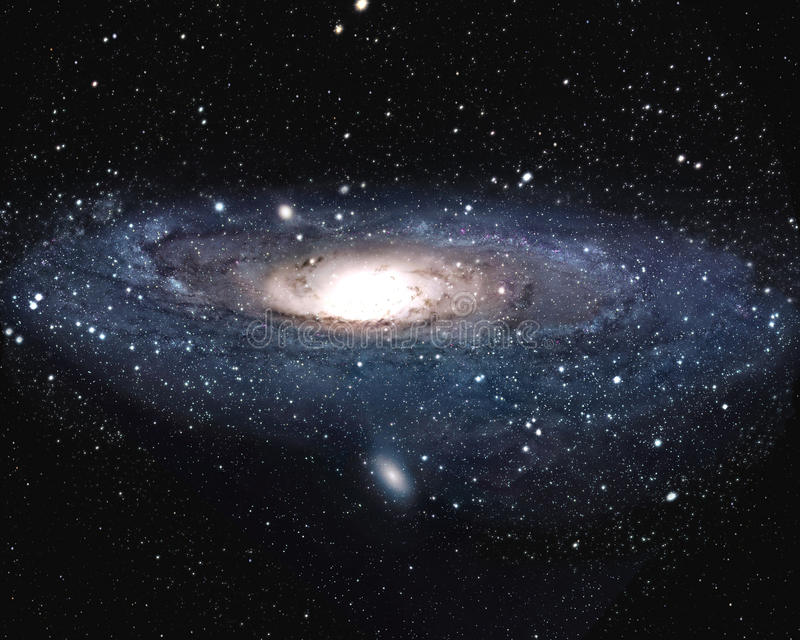 Andromeda Galaxy M31 royaltyfri illustrationer