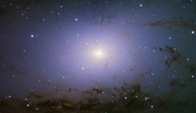 Andromedagalaxie-Kernmittelpunkt stockbilder
