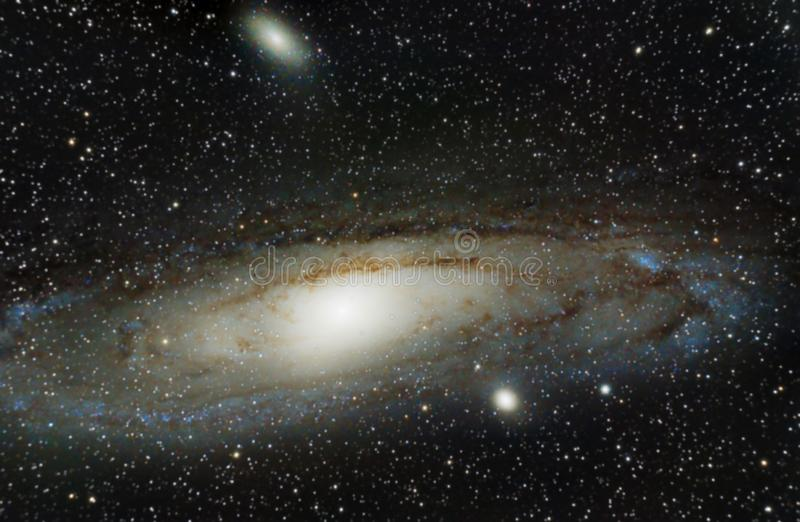 Andromedy galaktyka fotografia stock