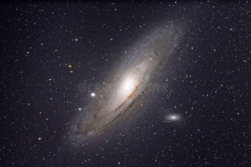 Andromedy galaktyka zdjęcia royalty free