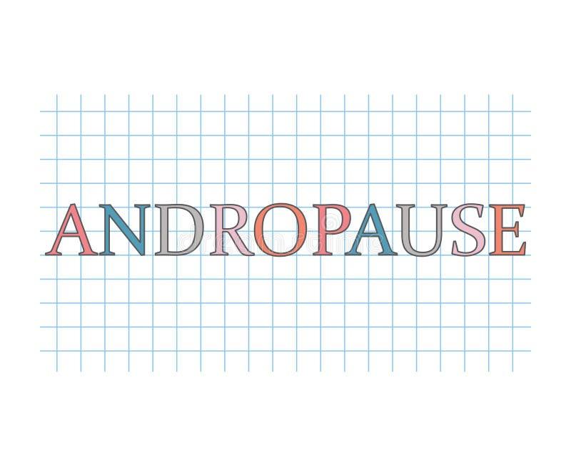 Andropause-Konzept lizenzfreie abbildung