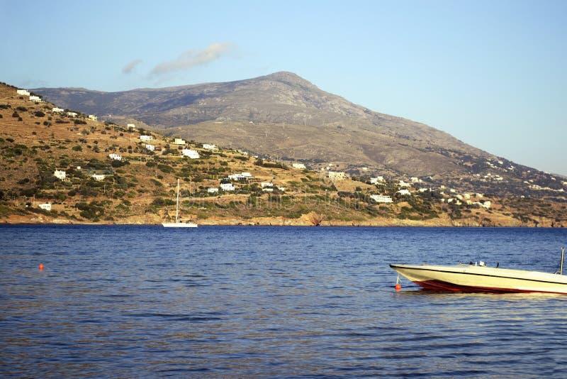 andros希腊海岛 库存照片
