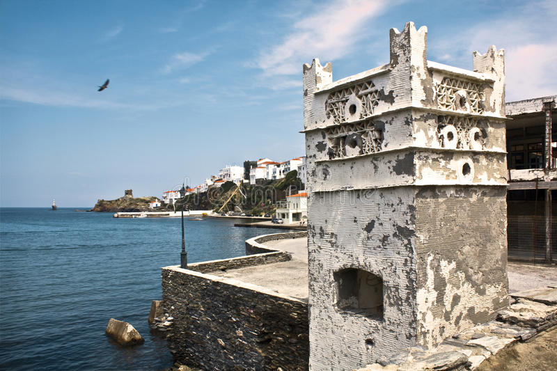 Andros pigeon house royalty free stock photo