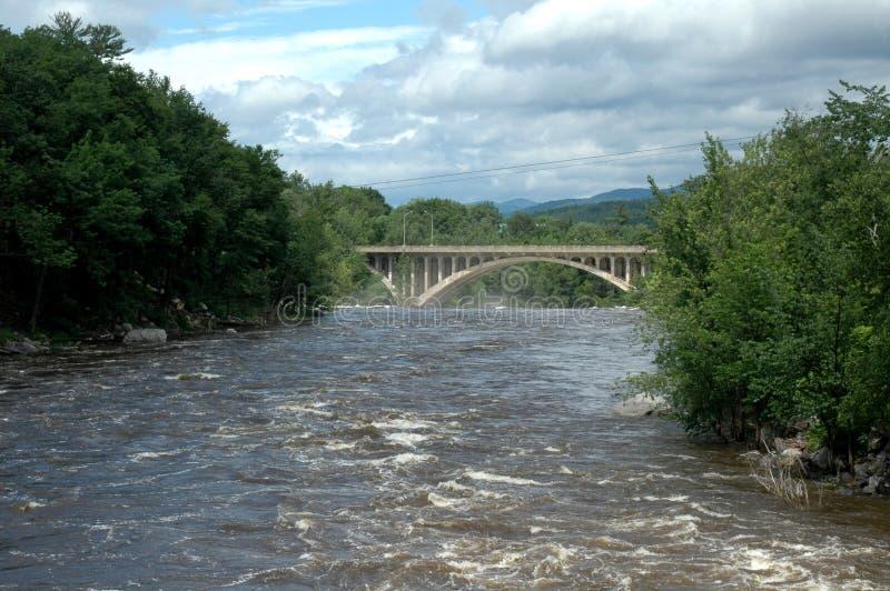 Androscoggin Fluss lizenzfreie stockfotos