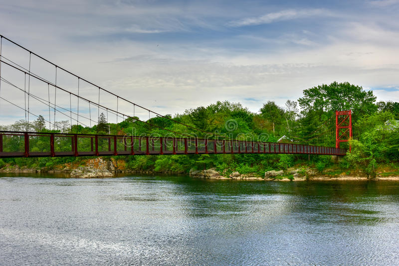 Androscoggin Swinging Bridge - Maine royalty free stock photography