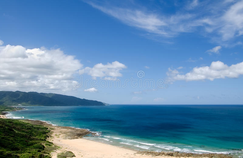 Andscape of blue ocean and sky stock photos