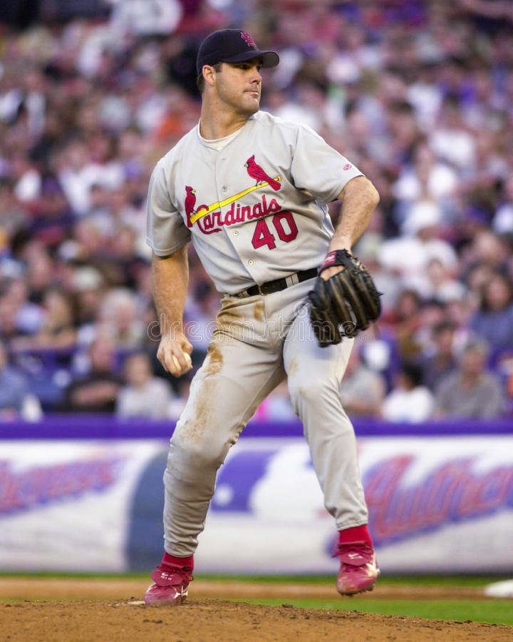 Andy Benes. St. Louis Cardinals pitcher Andy Benes. (Image taken from color slide royalty free stock photo