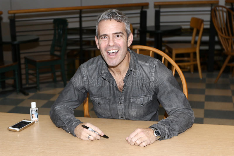 Andy Cohen. HUNTINGTON, NY-NOV 16: Andy Cohen signs copies of his book `Superficial: More Adventures from the Andy Cohen Diaries` at Book Revue on November 16 royalty free stock image