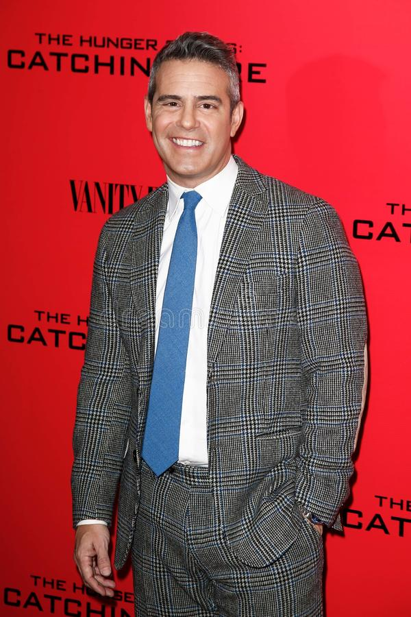 Andy Cohen. NEW YORK-NOV 20; TV host Andy Cohen attends The Hunger Games: Catching Fire special screening at AMC Lincoln Square Theater on November 20, 2013 in royalty free stock photography