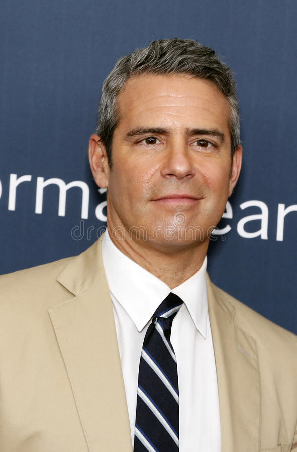 "Andy Cohen. Television personality Andy Cohen arrives on the red carpet for the New York premiere of ""The Normal Heart, "" at the Ziegfeld Theatre in royalty free stock photography"