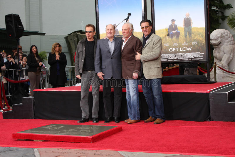 Andy Garcia, Billy Bob Thornton, James Caan, Robert Duvall photographie stock
