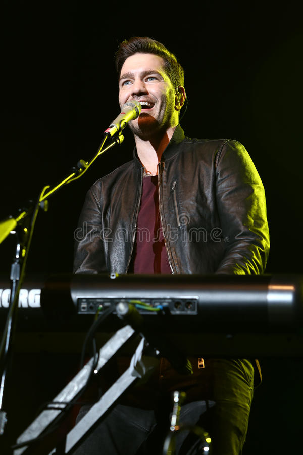 Andy Grammer. HUNTINGTON, NEW YORK-DEC 1: Singer Andy Grammer performs in concert at The Paramount on December 1, 2016 in Huntington, New York stock photo