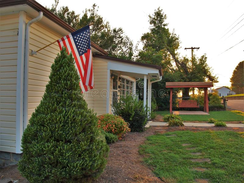 Andy Griffith Childhood Home. Andy Griffith`s childhood home in Mt. Airy, North Carolina. The home is available for rent on a nightly basis stock image