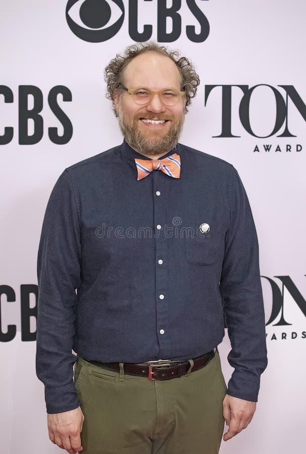 Andy Grotelueschen en Tony Awards Meet 2019 los candidatos presiona el dulce de leche cuajada foto de archivo