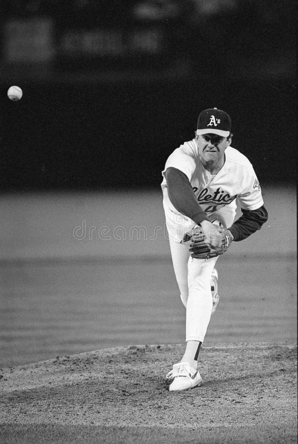 Andy Hawkins. Oakland Athletics pitcher Andy Hawkins. Image taken from color slide stock photography